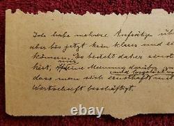 14 Authentic Handwritten Words by ALBERT EINSTEIN Gallery of History COA