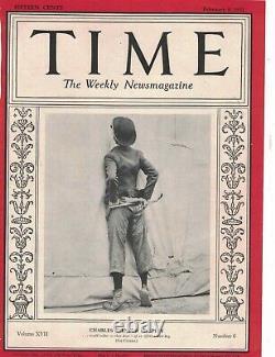 1931 Time February 9 Charlie Chaplin Gandhi Rockwell Kent Einstein burglars