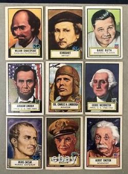 1952 Topps Look N See Set Ruth Rembrandt Lincoln Einstein 409623 (kycards)