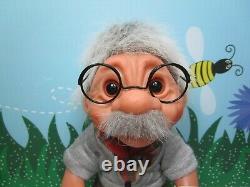 1984 BUBBY/EINSTEIN/GRANDPA ZEKE WITH HANG TAG 8 Dam Troll Doll