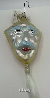 1993 Christopher Radko EINSTEIN KITE FACE 8 Glass Ornament 91-098-1 with Tag