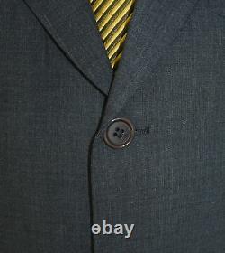 42R Hugo Boss Einstein/Beta 2-Piece Suit Men 42 Charcoal 2Btn Wool 36x31