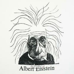 90S Largely Literary Einstein Shirt L
