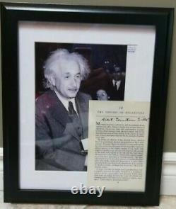Albert Einstein Authentic Hand Signed Autograph -Framed