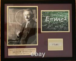 Albert Einstein Autograph BEAUTIFUL FRAMED