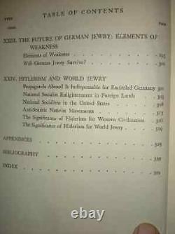 Albert Einstein Signed Book On Beginning Of Nazi's Rise German Jew Marcus Noble
