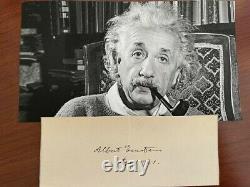 Albert Einstein Signed Slip, Developed Theory Of Relativity, Nobel Prize