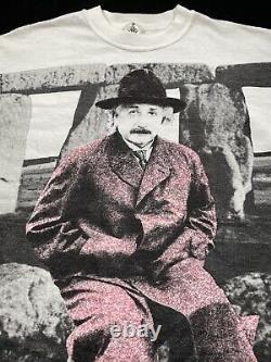 Andazia Albert Einstein Vintage T-shirt Size L Single Stitch Stone Henge