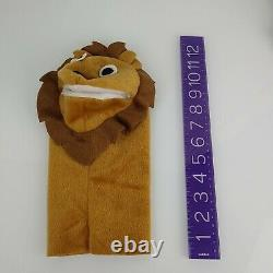 BABY EINSTEIN Plush LION Moveable Mouth Hand PUPPET Kids II from Movie DVD
