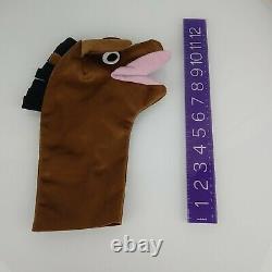 Baby Einstein Brown Horse Pony Hand Puppet by Kids II from Movie DVD Book