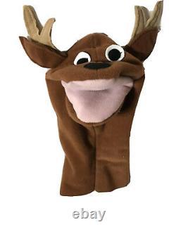 Baby Einstein Brown Reindeer Hand Puppet Plush Baby Santa Rare