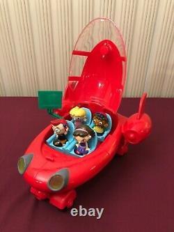 Disney Little Einstein's Pat Pat Red Rocket Ship 2006 Lights & Sounds, Rare