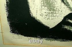 EINSTEIN serigraph 1973 signed 20/72 by CAJIGA Puerto Rico Latin Amer