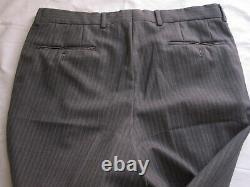 HUGO BOSS 110'S Einstein / Sigma Light Gray Pinstripe Suit Men Sz 43 37X30