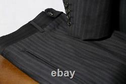 HUGO BOSS Einstein / Sigma Black Pinstripe 120s Suit Men's 40S / W34xL28