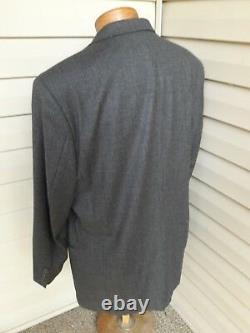 HUGO BOSS Einstein Sigma Gray Fit 3-Btn Wool Nylon Suit 42 44 Flannel