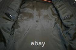 Hugo Boss 38r 32w Gray Brown Striped 3 Button Einstein/sigma Suit Q24