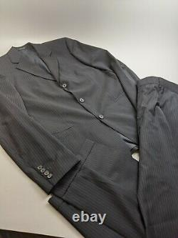 Hugo Boss Einstein/Sigma Super 100 Blue Pinstripe Suit Sz 38 R 32x32