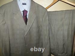 Hugo Boss Glen Plaid Einstein Omega Super 100 Suit Blazer 44 R Pants 36 X 28 EUC