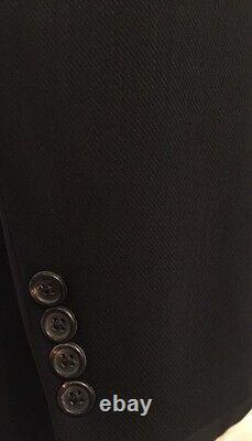 Hugo Boss Mens Black Einstein/Beta 3 Btn Wool Blazer Sz 46 R Excellent
