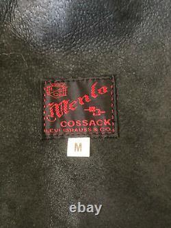 Levi's Albert Einstein LVC 1930's Menlo Cossack Leather Jacket Black Size M