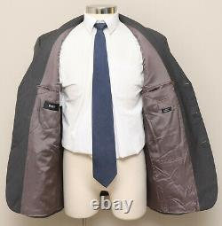 Mens 42R Hugo Boss Einstein/Beta Grey Herringbone 100% Wool Blazer