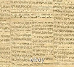 Nazi boycott Einstein funds seized Hindenburg Hitler photo April 2 1933 B26