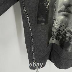 Neil Barrett Mens Grey Slim Fit Hoodie Zip Maximvs Einstein Size L