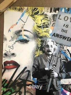 Original Litho Poster Mr. Brainwash Love Is The Answer Einstein Madonna Warhol