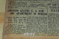 Original Newspaper AL CAPONE Gets First Jail 28 FEBRUARY 1931 + Einstein news