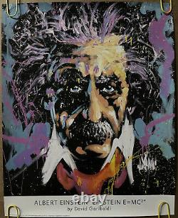 Original Vintage Poster Albert Einstein E=Mc2 psychedelic style poster Pin Up