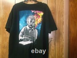 Pre-Owned Mens Einstein Branded Albert Einstein With Cosmic Smoke TShirt-2XL