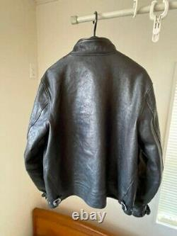 RARE! Levis Menlo Cossack Jacket Einstein size S leather Men's Black motorcycle