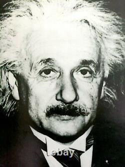 Rare Vintage 1988 Albert Einstein Estate Lithograph Print Photo Portrait Poster