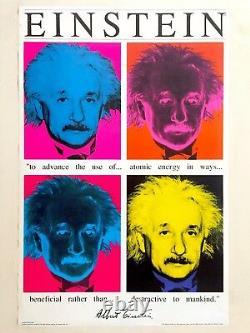Rare Vintage 1991 Albert Einstein Faces Collector's Pop Art Poster Print
