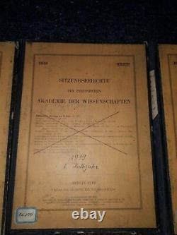 Sitzungsberichte Der Akademie Wissenschaften Berlin Physik Einstein Planck usw
