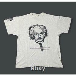 Super Rare Einstein Art Vintage 90 T-Shirt Xl Usa / List No. 506