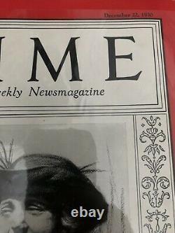 Time Magazine Elsa Einstein December 22, 1930