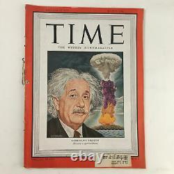 Time Magazine July 1 1946 Vol. 48 No. 1 Cosmoclast Albert Einstein Cover Photo