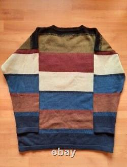 VTG 90s OG ICEBERG HISTORY ICESTEIN Albert Einstein Knit Sweater Rare size L