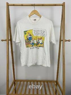 VTG Einstein E=MC2 Dance Floor Single Stitch Short Sleeve T-Shirt Size L USA