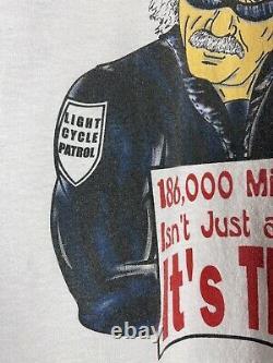 Vintage 2000s Albert Einstein Police Officer Artwork Promo Tee Shirt Size XL