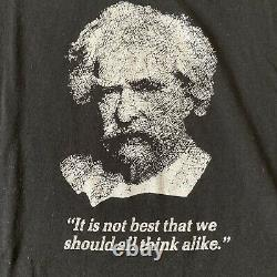 Vintage 80s Albert Einstein E=MC(2) Black Thin Soft Quote T-Shirt Size M/L Rare