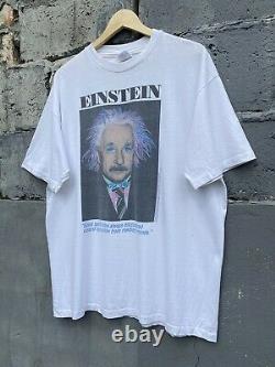 Vintage 90s Albert Einstein Licensed by Roger Richman Single Stitch White Tee