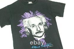 Vintage 90s Albert Einstein Pop Art T Shirt Andazia Science Physics Nerd Mens M