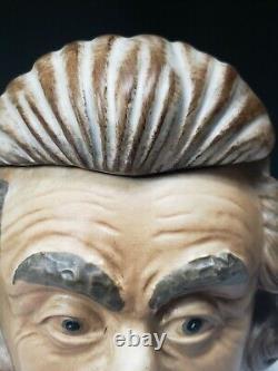 Vintage Comoys Of London Ceramic Pottery Tobacco Jar Humidor Figural Einstein