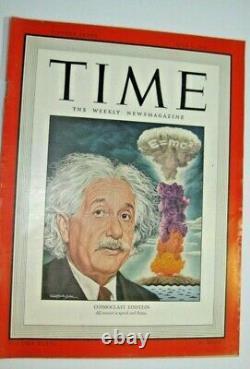 Vintage Time Magazine Albert Einstein July 1, 1946 Cosmoclast Einstein
