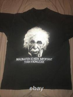 Vintage USA Sng Stch Einstein 80s IMAGINATION IS MORE IMPORTANT THAN KNOWLEDGE