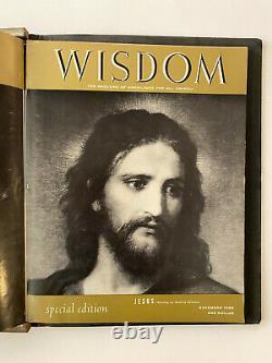 Vintage WISDOM Magazine of Knowledge 1956 Bound Volume Albert Einstein Jesus