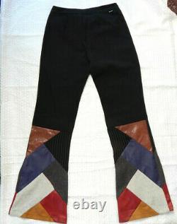 Women Wide Leg EINSTEIN PLUS PANTS PATCHWORK HIPPIE STYLE RETRO BOHO SIZE 28